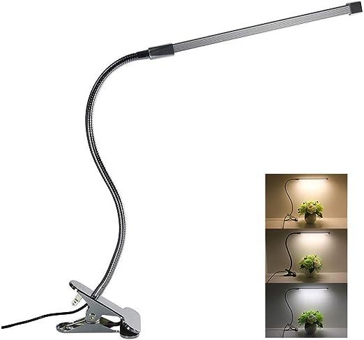 Z·Bling Lámpara LED de Mesa, 8W Flexo Pinza con 3 Modos de ...