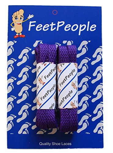 FeetPeople Flat Laces, 2 Pair, Purple, 40 inches x 2 -