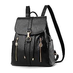Fashion Shoulder Bag Rucksack Pu Leather Women Girls Ladies Backpack Travel Bag Leather Backpack