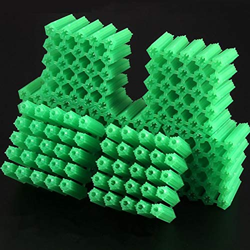 Ochoos 500 Pcs Plastic Expansion Pipe M6 M8 Green Masonry Screw Fixing Wall Anchor Plugs self Tapping Screw Expansion Tube Specification: M8