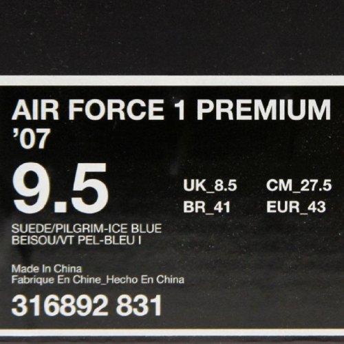 Nike Air Force 1 07 Low Premium Kool Bob Love 3 suede pilgrim ice blue Size 9.5 US by NIKE (Image #5)