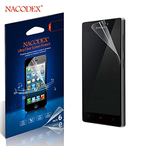 Nacodex® - Lenovo Vibe X2 - Hd Clear Screen Protector - [6-pack] Ultra-clear High Definition (Hd) Screen Protectors, *Maximum Clarity and Touchscreen Accuracy , Anti-scratch, Anti-fingerprint , 99% Touch-screen Accurate, Ultra-clear LCD Screen Protectors Perfect Fit for Lenovo Vibe X2 Excellent (Lenovo Vibe X2 - Screen Protector (Hd))