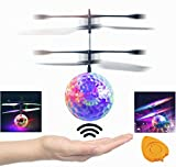 Mansalee RC Toy, RC Flying Ball, RC infrared Induction Helicopter Ball with Rainbow Shining LED Lights For Kids, Flying Toy for Boys and Girls