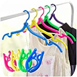 Small Cute Clothes Rack Hanger for Newborn Clothes Cat Dog Puppy Pet Clothes Clothing Accessories Hangers Pack of 10 (Black)