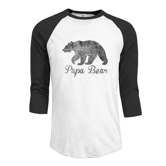 c9b02ed74a Amazon.com  Papa Bear Mens 3 4 Sleeve T-Shirts Baseball Raglan Tee Shirts   Clothing