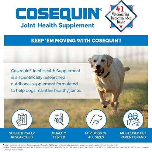 Cosequin Maximum Strength Joint Supplement Plus MSM – with Glucosamine and Chondroitin – for Dogs of All Sizes