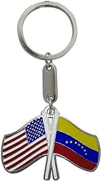 Amazon.com: Llavero USA/Venezuela Banderas: Automotive