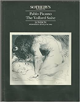 sothebys pablo picasso the vollard suite london wednesday 26th june 1991