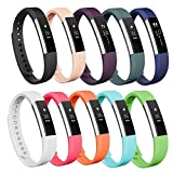 Fitbit Alta Bands/Fitbit Alta HR bands,AK Replacement Fitbit Bands for Fitbit Alta/Alta HR(10colors, Small)