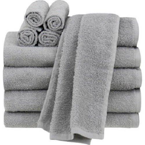 Mainstays Value 10-Piece Towel Set ,Actual Color: Grey