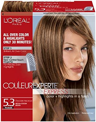 L'Oreal Paris Couleur Experte Express Hair Color, 5 3 Medium Golden  Brown/Chocolate Macaroon