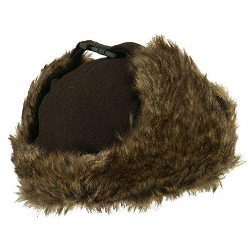 Winter Fur Trooper Hat - Brown OSFM