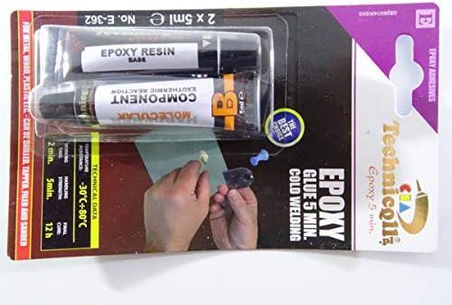 [해외]Technicqll Epoxy Adhesive Glue Rapid 5 Min For Metal Wood Glass Plastic Bricks Concrete Very Strong / Technicqll Epoxy Adhesive Glue Rapid 5 Min For Metal Wood Glass Plastic Bricks Concrete Very Strong