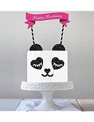 Maydolbone Panda Baby Cake Topper,Food Picks Baby Shower Cake Decor And Birthday Party Picks