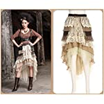 Steampunk Victorian Gothic Sexy Prom Dresses Homecoming Dresses Wedding Dresses Beige 7