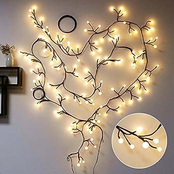 Amazon.com : Decorative Lights, TOFU 8ft 72 LED Indoor&Outdoor 8 ...