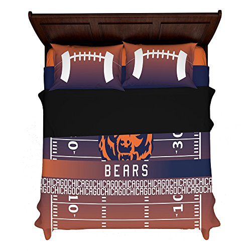 Chicago Full Sheet Set Bears (Articouture Customizable Chicago Football 2nd Generation Fan Made Duvet Bedding Set with Pillowcases (Full/Queen (2 Shams) 88