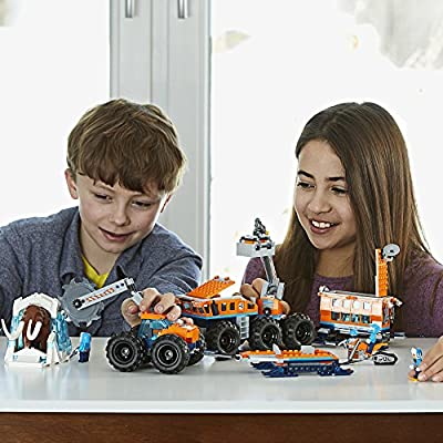 LEGO City Arctic Mobile Exploration Base 60195 Building Kit, Snowmobile Toy and Rescue Game (786 Pieces): Toys & Games