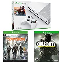 Xbox One S 500GB Console – Battlefield 1 Bundle  + Call of Duty + The Division