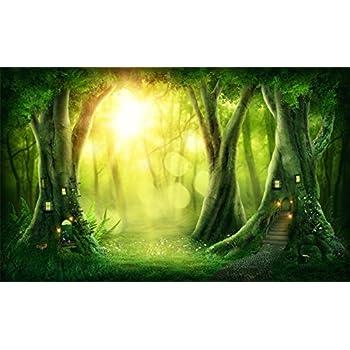 Amazon Com Laeacco 10x7ft Fairytale Dreamy Jungle Forest