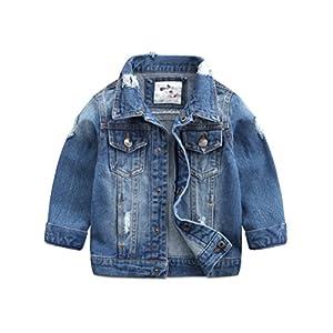Baby Boys' Basic Denim Jacket Button Down Jeans Jacket Top