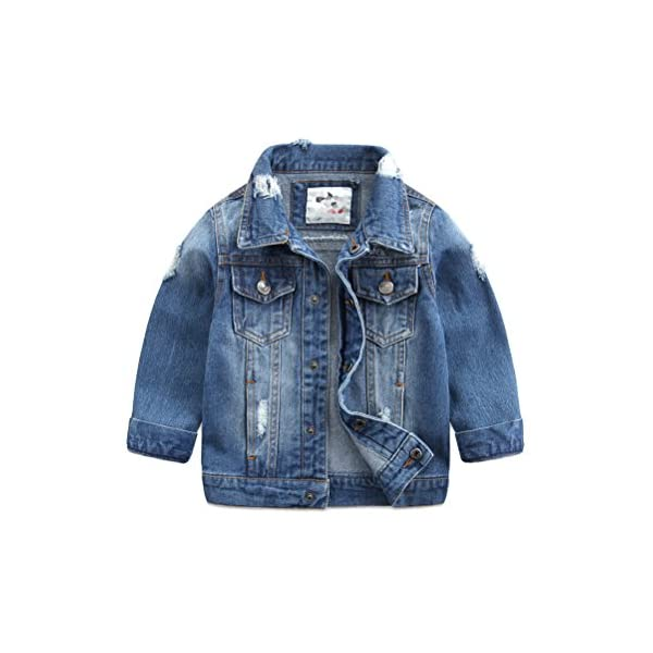 Baby Boys' Basic Denim Jacket Button Down Jeans Jacket Top