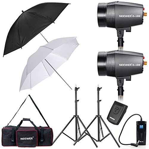 Neewer 360W 5600K Photo Studio Monolight Strobe Flash Light Umbrella Lighting Kit with Carrying Bag for Video Shooting Location and Portrait Photography