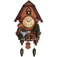 Vivid Large Cuckoo Clock、Wall Cuckoo Clock,chime has automatic Shut-Off [Kitchen & Home]