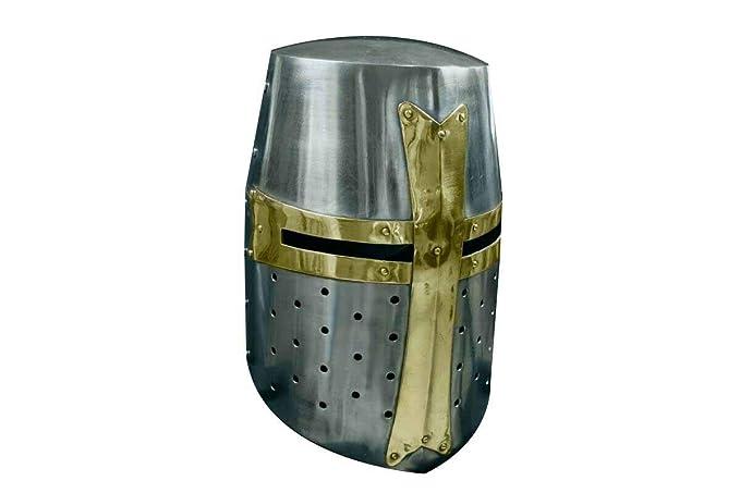 Amazon.com: AnNafi Crusader - Casco medieval de metal con ...