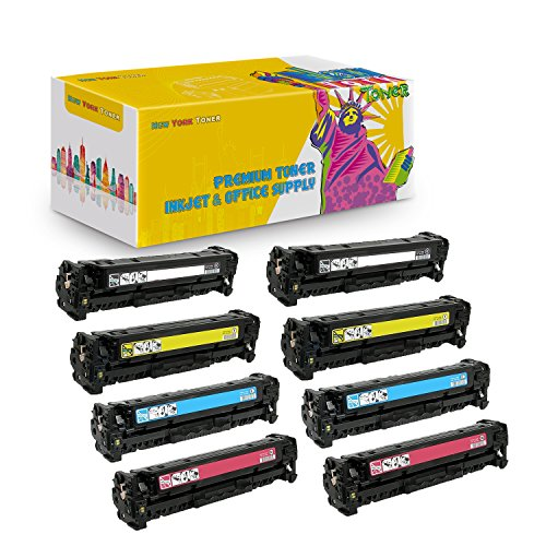 New York TonerTM New Compatible 8 Pack C4191A C4192A C4193A C4194A High Yield Toner for HP - Color LaserJet 4500   4500DN   4500HDN   4500N   4550   4550DN . -- Black Cyan Yellow Magenta (Compatible C4192a Cyan Laser)