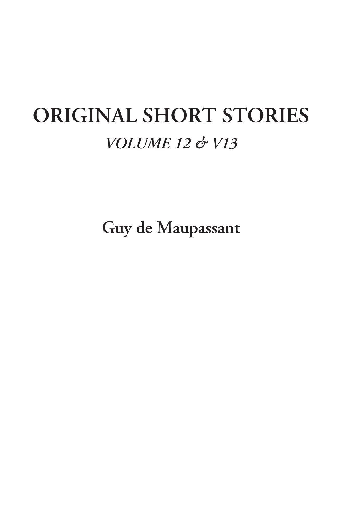 Download Original Short Stories, Volume 12 & V13 pdf epub