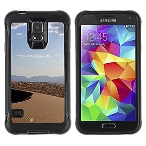 Suave TPU Caso Carcasa de Caucho Funda para Samsung Galaxy S5 SM-G900 / Nature Beautiful Forrest Green 127 / STRONG