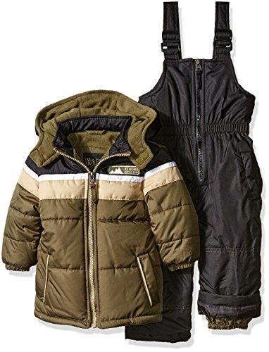 ixtreme-baby-boys-colorblock-snowsuit-olive-12-months