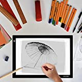 """Huion L4S Light Box - 17.72 Inches USB ADJUSTABLE Illumination Light Panel only 5mm Thin Light Table with 5 A4 Tracing Papers and 1 Non-woven Bag L14.17"""" x W10.63"""" x H0.2"""""""