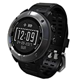 Waterproof GPS Outdoor Smart Watches - aiwako BT4.2 Compass Atimeter SMS Heart rate Monitor Sleep Monitor for iPhone Android - Iron Grey