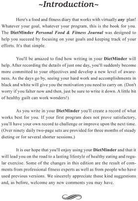 DIETMINDER Personal Food & Fitness Journal (A Food and Exercise Diary) 4