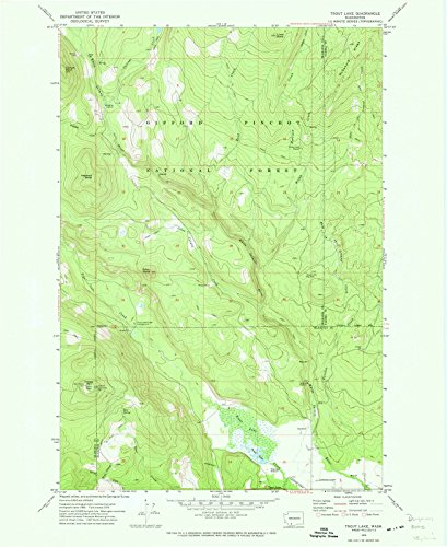 Washington Maps | 1970 Trout Lake, WA USGS Historical Topographic Map | Cartography Wall Art | 44in x 55in