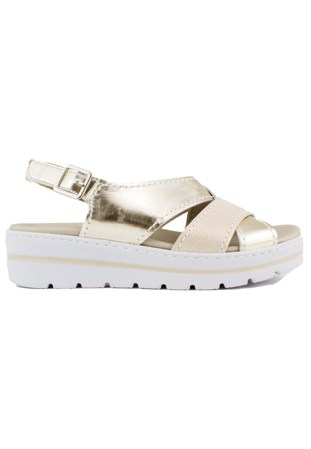 Notton - Sandalia Tiras Plataforma 38 EU|Oro Venta de calzado deportivo de moda en línea