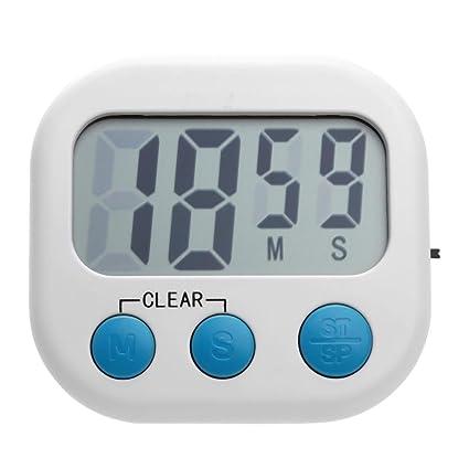 WinnerEco LCD Digital de Cocina Temporizador Alarma Reloj Temporizador de Cocina Herramienta (Color Blanco)