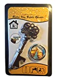 Butler in the Home® Bottle Butler Beer Bottle Opener Keychain Skeleton Key Opening Beer Bottles Soda Bottles Keychain Key Ring Tailgate Party, Antique Copper