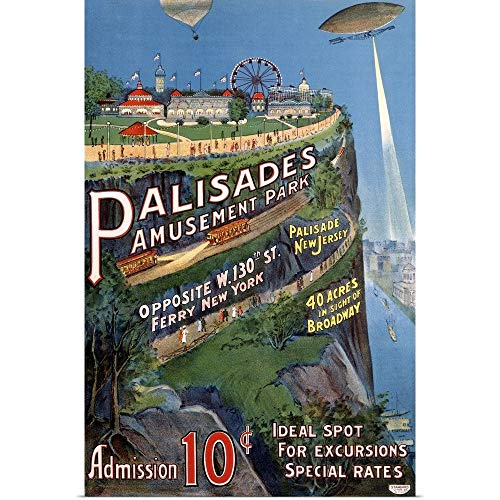 GREATBIGCANVAS Poster Print Entitled Palisades Amusement Park Vintage Advertising Poster by ()
