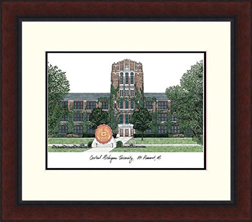Minnesota Golden Gophers Lithograph Framed Campus Print by Landmark Publishing