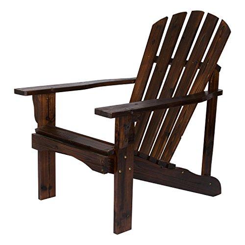 Shine Company Inc. 4617BB Rockport Adirondack Chair, Burnt Brown