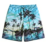 SULANG Men's Ultra Quick Dry Lightweight Fashion Board Shorts Swim Trunks NO Mesh Lining