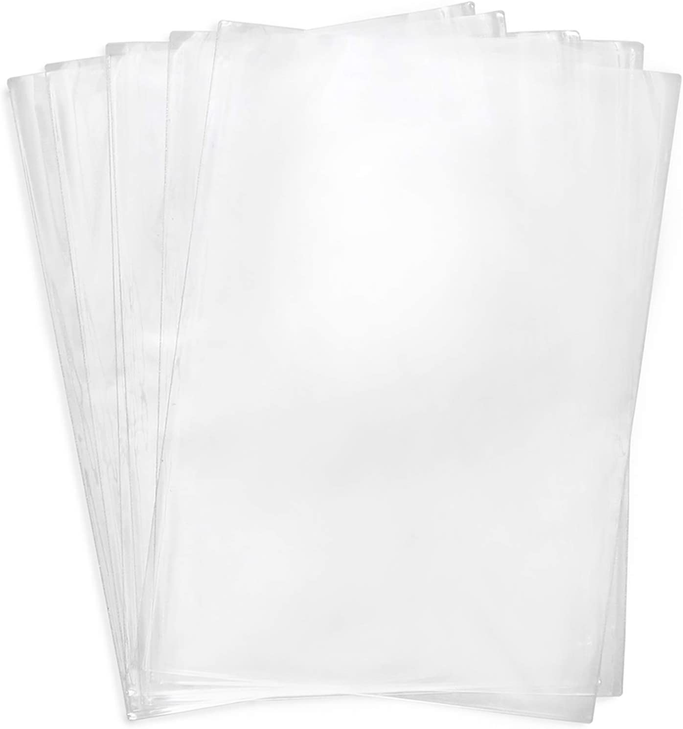 Shrink Wrap Bags,10x14 Inches Clear Heat Seal Shrink Bags for Gifts, Packaging, Homemade DIY Projects,Soap,Book,Bath Bombs, Film DVD/CD, Candles,Small Bottle,100 Pack