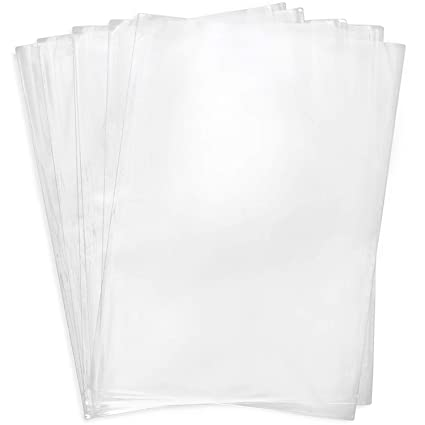 Shrink Wrap Bags Paper 40 Pcs 13.8 x 17.7 Inch PVC Shrink Packing Bags Clear Shrink Film Heat Shrink Wrapping Bags for Gift Boxe Book Soap Cups Shoe Candle Tumbler Packing Bags Packing Film