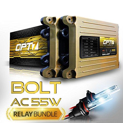 Bolt AC 55w Hi-Power H7 HID Kit - Relay Bundle - All Bulb Sizes and Colors - 2 Yr Warranty [8000K Ice Blue Xenon Light]