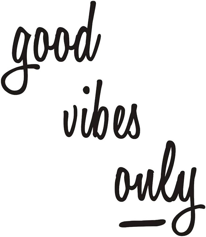 TOARTi Good Vibes Only Wall Decal Wall Stickers Inspirational Motivational Signs Home Decor Home Office Bedroom Living Room Wall Decorations