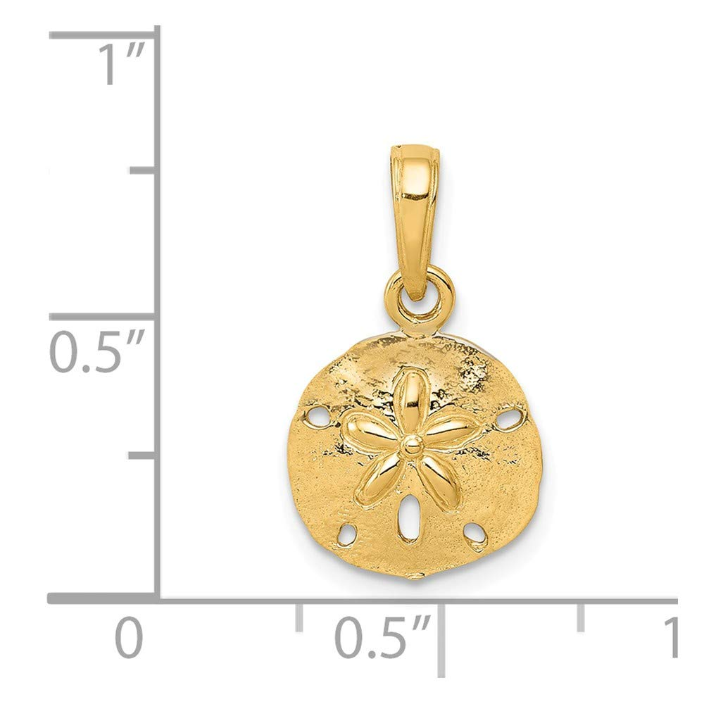 14K Yellow Gold-plated 925 Silver Sand Dollar Pendant with 16 Necklace Jewels Obsession Sand Dollar Necklace
