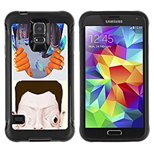 Hybrid Anti-Shock Defend Case for Samsung Galaxy S5 / Abstract Psychedelic Art